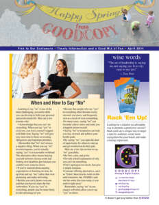 Goodcopy Newsletter, April 2014